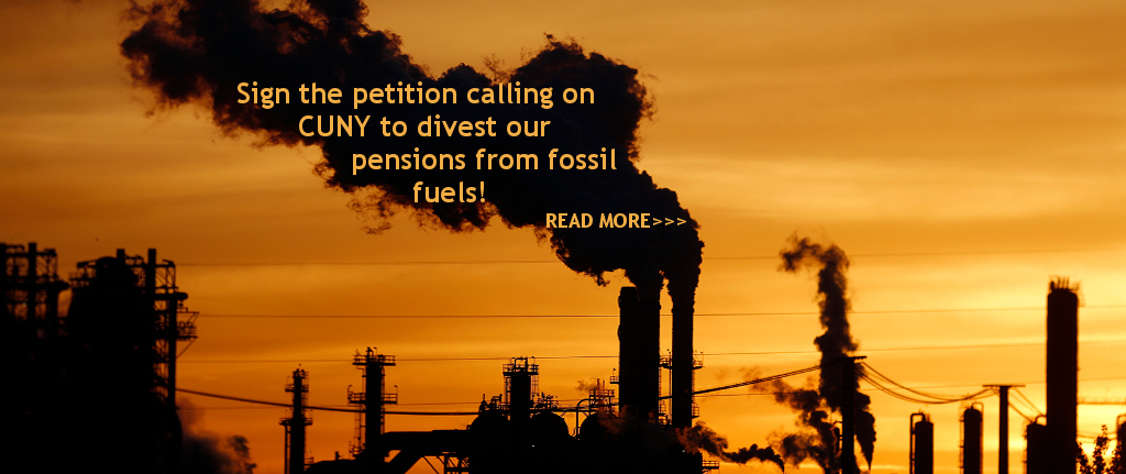 Divest CUNY Pensions from Fossil Fuel